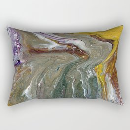 Fluid Acrylic XX - Original, acrylic, abstract painting Rectangular Pillow