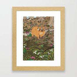 Badger & Bleeding Heart Framed Art Print