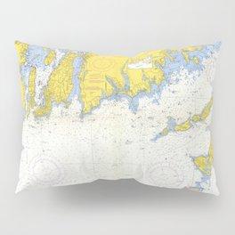 Vintage Buzzards Bay, Vineyard Sound and Coastal RI Map Pillow Sham