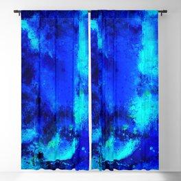psychedelic color gradient pattern splatter watercolor blue Blackout Curtain