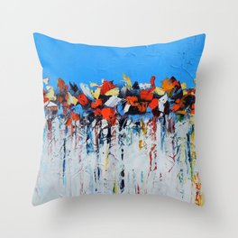 Blue Abstraction Throw Pillow