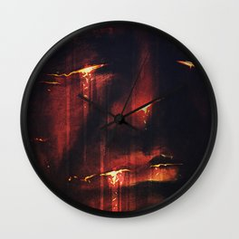 Red I Wall Clock
