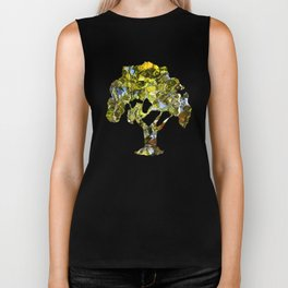 Abstract Tree Reflection Biker Tank