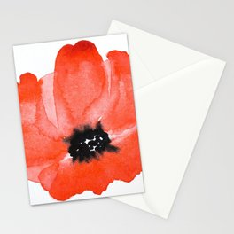 Red Poppy Watercolour Stationery Cards