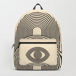 Abstraction_EYE_POP_ART_LINE_Minimalism_029AA Backpack