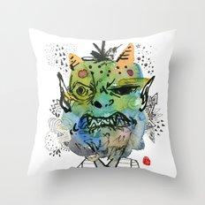 Monster me Throw Pillow
