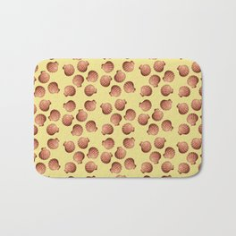 Yellow small Clams Illustration pattern Bath Mat