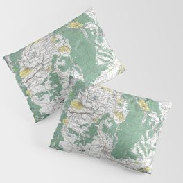 Pacific Northwest Map Pillow Sham