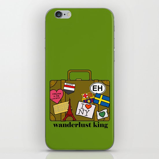 Wanderlust King iPhone & iPod Skin
