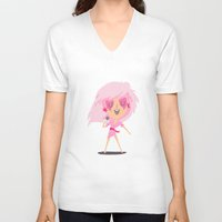jem V-neck T-shirts featuring Jem by Rod Perich