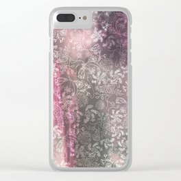 Lace Sky Collage Clear iPhone Case