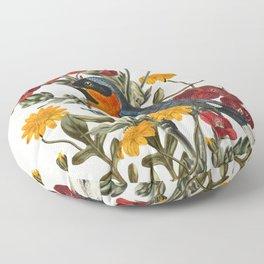 Little Bird and Flowers Floor Pillow