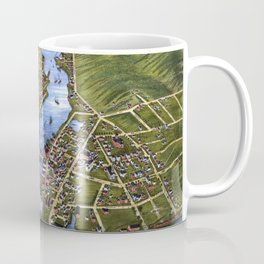 MYSTIC RIVER CONNECTICUT city old map Father Day art print Coffee Mug