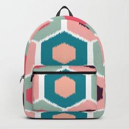 ikat honeycomb Pink #homedecor Backpack