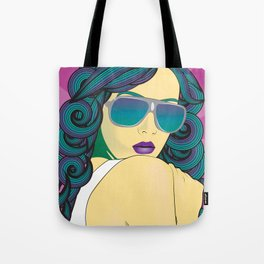 Pop Art Portrait Series 1: v.4 Tote Bag