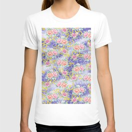Japanese floral pattern T-shirt