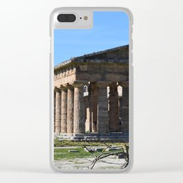 templi di paestum Clear iPhone Case