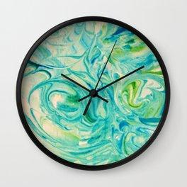 marbling twirl Wall Clock