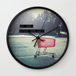 Grocery Cart Rage  Wall Clock