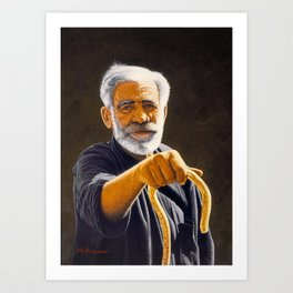 Portrait of Cretan man Art Print