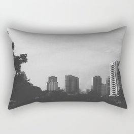 Sao Paulo Black and White Rectangular Pillow