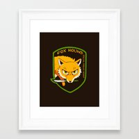 metal gear solid Framed Art Prints featuring Metal Gear Solid - Chibi Foxhound by feriowind