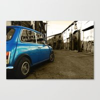 mini cooper Canvas Prints featuring Mini Cooper  by Vasilis Kleanthous