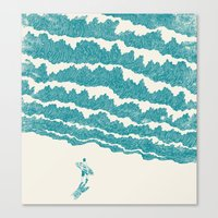 ilovedoodle Canvas Prints featuring To the sea by I Love Doodle