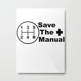Save The Manual Decal Metal Print