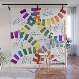 Off to school I go - with my colorful building blocks Wall Mural