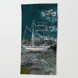 Shower Ship Beach Towel