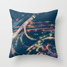 City in the sky fantastic Throw Pillow