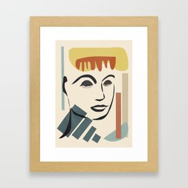 Abstract Face III Framed Art Print