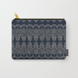 Silvery Striped Doodle Carry-All Pouch