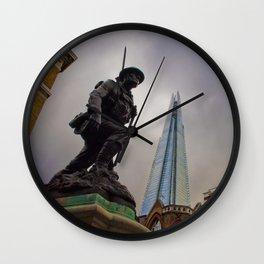 St Saviours War Memorial The Shard Southwark London Wall Clock