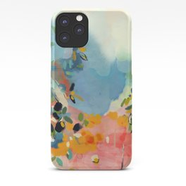 garden with sea view and olive tree iPhone Case