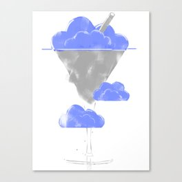 Cloudy Cocktail Canvas Print