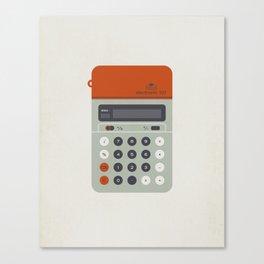 "Vintage Calculator Series: ""Electronic 101"" Canvas Print"