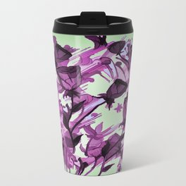 Painterly Graceful Flowing Flowers Travel Mug