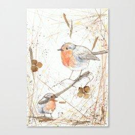 Kleine rote Vögelchen (Little red birdies) Canvas Print