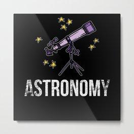 Astronomy Telescope Metal Print