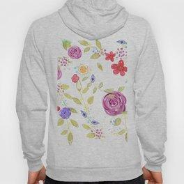Drawn Natura Botanical Floral Pattern Hoody