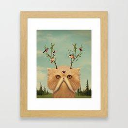 Bastet, Cat Deity - patron of the forest & animals Framed Art Print