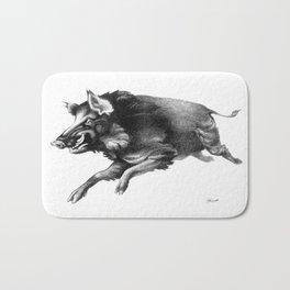 Running Boar Bath Mat