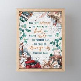 Be careful of books Framed Mini Art Print
