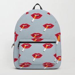 Paris Cigarette Lips Backpack