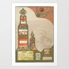 Hundertwasser's Meteor #1 Art Print