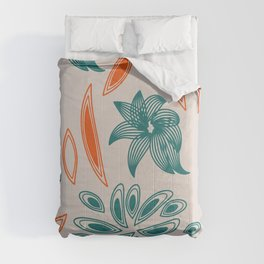 pattern with flowers and leaves Comforters