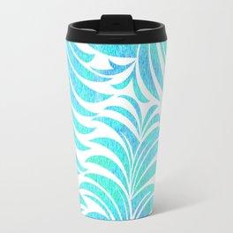 Aqua Hawaiian Print Travel Mug