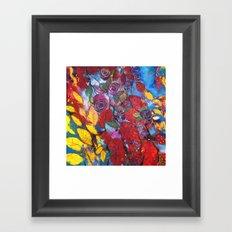 Roses garden Framed Art Print